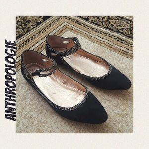 Anthropologie Miss Albright Suede Mary Janes Sz 9